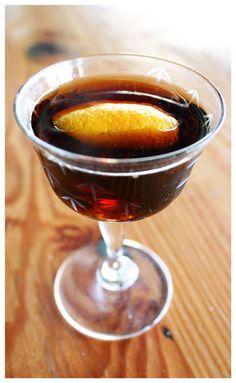 """The Solera Club"" by Jeffrey Morgenthaler - sherry, absinthe, Cynar, creme de peche"