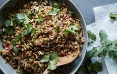 Grain salads, like this herb-spiked one made with smoky freekeh, come together instantly with leftovers—reason enough to cook off a batch on Sundays.
