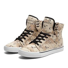 SUPRA SKYTOP   DESERT CAMOUFLAGE/BLACK-WHITE   Official SUPRA Footwear Site Supra Sneakers, Supra Shoes, Supra Footwear, Swag Style, My Style, Supra Skytop, Camo Fashion, Crazy Shoes, Red Shoes