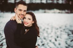 Winter engagement photo, picture marvelous photography, gold Creek Pond