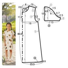 58 Ideas for sewing kit pattern simple Baby Dress Tutorials, Baby Dress Patterns, Kids Patterns, Sewing Patterns Free, Bear Patterns, Baby Clothes Patterns, Pattern Sewing, Pattern Ideas, Crochet Dress Girl