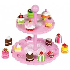 This+high+tea+shape+matching+set+by+John+Crane+encourages+spatial+awareness.++This+childrens+tea+set+encourages+counting+and+matching+skills+with+cakes!+|+From+Spotty+Green+Frog