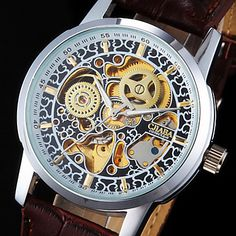 Men's Watch Auto-Mechanical Skeleton Hollow Engraving – USD $ 20.99