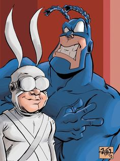Just felt nostalgic for some old cartoons again and doodled this the other night and then colored for fun. The Tick and Arthur sketch Best Cartoons Ever, Old Cartoons, Comedy Comics, A Comics, Make A Comic Book, Comic Books, Show Video, Baby Crafts, Ticks