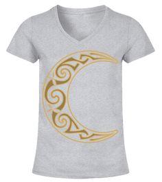 Celtic Gold Moon viking vahalla odin viking odin T-shirt
