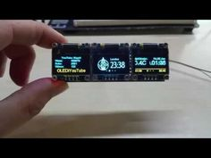 Tripple ESP8266 Display Module using my OLEDiUNO PCB - YouTube