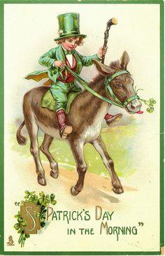vintage everyday: 20 Adorable Vintage St. Patrick's Day Postcards