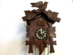 Wooden Musical Cuckoo Clock made in West by CreekLifeTreasures, $98.00