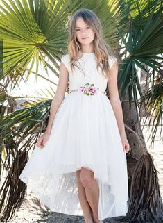 Search for discount boho lace wedding dress, amazing wedding dress, tulle wedding dress online? Kristina Pimenova, Tulle Flower Girl, Flower Girl Dresses, Beach Flower Girls, Lace Bodice, Lace Dress, Girls Party Dress, Girls Dresses, Tulle Wedding