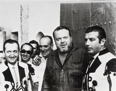 Orson Welles, with Antonio Ordóñez, Julio Aparicio & Juan Guardiola at the Plaza de Toros in Ronda, Spain (1964)