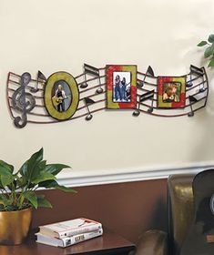 Musical Notes metal wall art- would look good over the piano. Music Wall Art, Music Decor, Metal Walls, Metal Wall Art, Metal Work, Instruments, Flowering Vines, 6 Photos, Wall Art Pictures