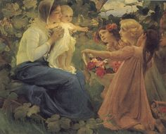 Franz Dvorak The Offering of flowers to the Infant""