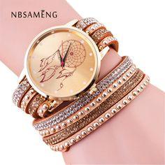 New Brand Handmade Braided Dreamcatcher Friendship Bracelet Watch GENEVA Watches Women Quarzt Watches Relogio Feminino LZ182