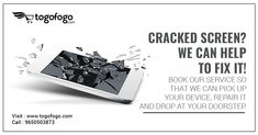 Cracked Screen? We can help to fix it! Book our service so that we can pick up your device, repair it and drop at your doorstep. Book Here: https://bit.ly/2MaPovv #MobilePhoneRepair #RepairService #Togofogo