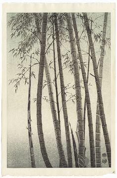 """Bamboo (Right)"" by Eiichi Kotozuka (1906 - 1979); Japanese woodblock print #japan #art #japanese #bamboo"