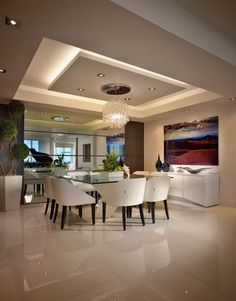65 New False Ceilings with Cove Lighting Design for Living Room – - Ceiling design Gypsum Ceiling Design, House Ceiling Design, Ceiling Design Living Room, Home Ceiling, Dining Room Design, Cove Lighting Ceiling, Kitchen Ceiling Design, Ceiling Lights, Ceiling Beams