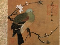 徽宗 Pigeon on a Peach Branch by Emperor Huizong of Song Dynasty (1082–1135)