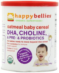 Baby/Infant/Child/Kid Happy Bellies Organic Baby Cereals with DHA Plus Pre and Probiotics, Multigrain, Canisters (Pack of Newborn Gear Discount Baby Items, Baby Formula Milk, Organic Cereal, Brown Rice Cereal, Baby Solid Food, Baby Gallery, Baby Cereal, Organic Superfoods, Multigrain