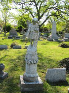 One of my favorite local quiet places-Statuary - Elmwood Cemetery, Norfolk, Virginia