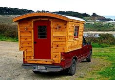 Homemade Truck Camper | Cute isn't it and so easy to put on any make of pickup truck...