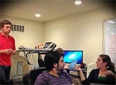 Kyle Aryan and Brianna at the chronoplex.