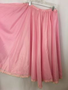 Belly Dance Flying Skirt Pink Elastic Waist Lace Edge Cosplay Gypsy Halloween #Unbranded #PeasantBoho
