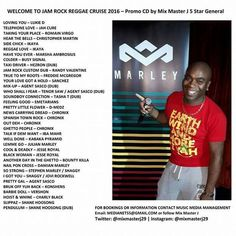 """Check out """"Welcome To Jam Rock Reggae Cruise - Mixmaster J Reggae Mix-Tape Promo CD 2016"""" by Music Media Management on Mixcloud"""