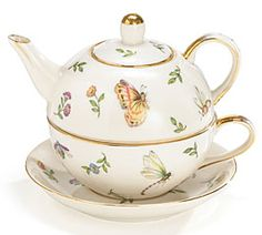 Morning Meadows Tea for One Stacker Teapot - Insects & Flowers