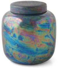 kingfisher glaze ceramics | Ruskin's beautiful, decorative glazes can be divided into four ...