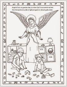 Matthew 21 12 17 mark 11 15 19 luke 19 45 48 jesus for Guardian angel prayer coloring page