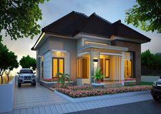 Bungalow house design, modern house design, house front design, small h Best Modern House Design, Simple House Design, House Front Design, Minimalist House Design, Small Contemporary House Plans, Modern Bungalow House, Design Living Room, Home Design Plans, Small House Plans