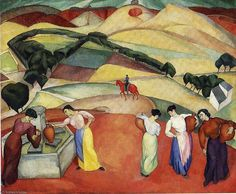 by Diego Rivera (1886-1957, Mexico)                                                                                                                                                     More