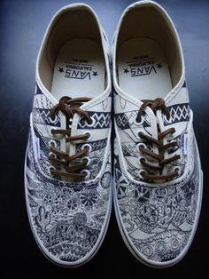 f1395a3d2c Desert LA Custom VANS Shoes Size 8 (M)   9.5 (W) Slip