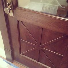#ShareIG Custom walnut back door #rockymountainhardware #detailsdetails