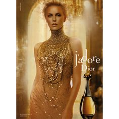 Dior Ad Campaign j'adore - MyFDB ❤ liked on Polyvore featuring ad campaign and charlize theron