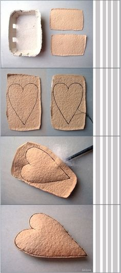 sewn stuffed egg carton craft