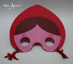 Máscara da Chapeuzinho Vermelho