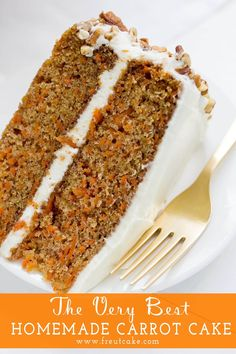 The Very Best Homestyle Carrot Cake with Cream Cheese Frosting perfect for Easter or any family celebration. Pizza Dessert, Dessert Kabobs, Dinner Dessert, Homemade Carrot Cake, Best Carrot Cake, Carrot Cakes, Apple Cake, Baking Recipes, Dessert Recipes