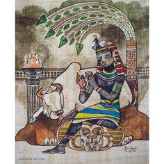 Krishna for Today India Painting, Krishna Painting, Krishna Radha, Painted Chairs, Krishna Images, Hindu Art, Wall Sculptures, Art Forms, Cool Art
