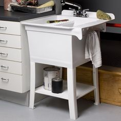 """Maddox Workstation 24.38"""" x 25.75"""" Single Freestanding Laundry Sink with Faucet"""