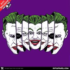 The Joke Has Many Faces T-Shirt - Joker T-Shirt is $11 today at Ript!
