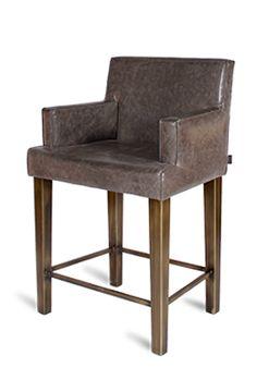 Stockholm Barchair Grey #Cravt #Original #Craftsmanship #Living #Furniture #Design #Luxury #Chair #Leather #Stainless #Steel