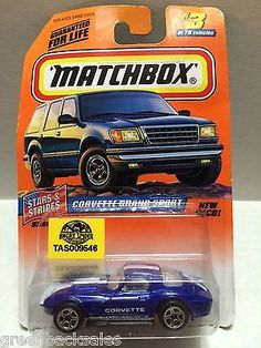 Matchbox Racing Stock Car - Corvette This item is NOT in Mint Condition and is in no way being described as Mint or even Near Mint. Our toys have not always lead the perfect life, nor have they been t