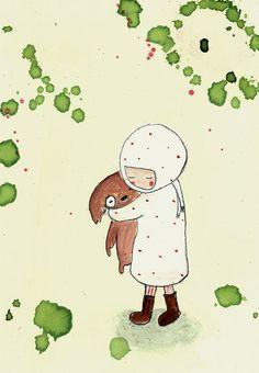 Süße Illustration fürs Kinderzimmer / illustrated artprint with little girl made by Holli Paola Zakimi shop via DaWanda.com