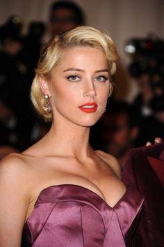 Amber Heard Classic Formal Hair Style