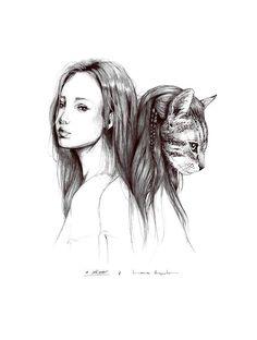...LADO ANIMAL...Laura Agusti New Love, Illustrators, Kitty, Drawings, Prints, Animals, Fashion, Dibujo, Cute Illustration