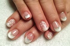 French, white flower gel art! by KiKi_Chicago - Nail Art Gallery nailartgallery.nailsmag.com by Nails Magazine www.nailsmag.com #nailart