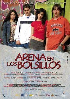 """""""Arena en los bolsillos"""" una película española del 2006 dirigida por César Martínez Herrera y protagonizada por cuatro jóvenes,  entre ellos Clara Lago. Narra la historia de cuatro jóvenes que viven en un barrio en la periferia de Madrid que inician un viaje hacia el mar huyendo de la rutina y la miseria"""