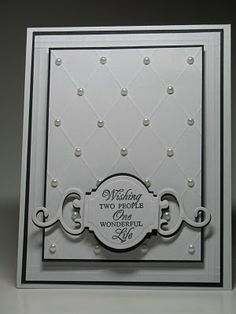 Nice wedding card by My Scrappin And Stampin Corner: Wedding Wishes