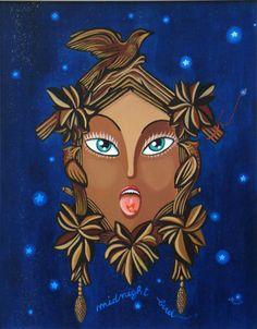 Midnight Bird - acrilic on wood - 2011